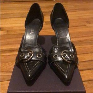 PRADA Buckle Pointed Toe Heel